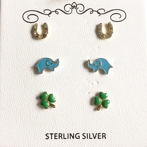 Children's Sterling Silver  Earring Set (3 pairs)